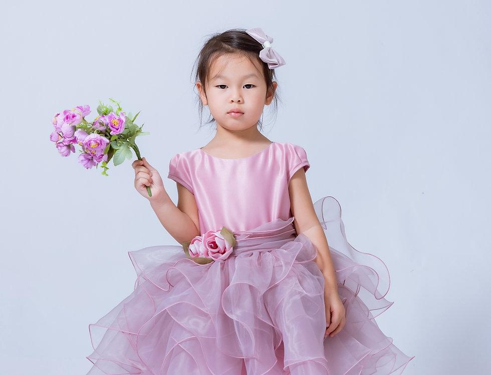 ชุดราตรีเด็ก SS-2045 Pink
