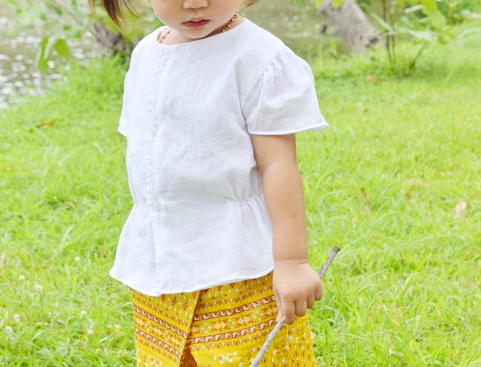 ชุดไทยเด็ก รุ่น B2/SR2-Yellow