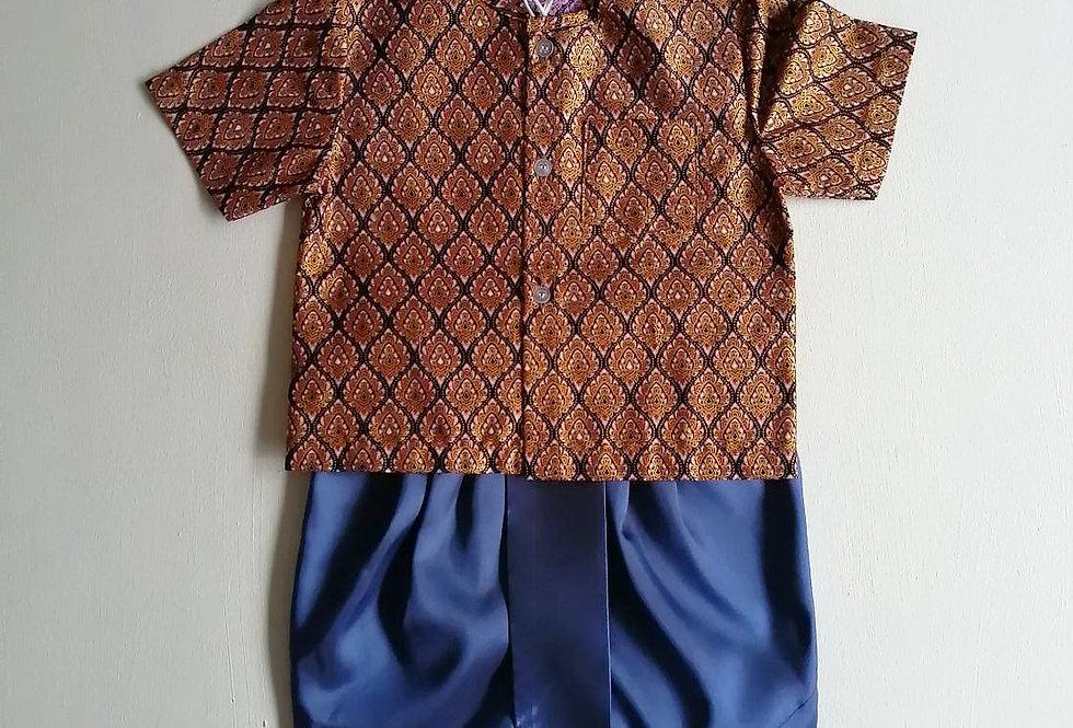 ชุดไทยเด็กชาย SET21- brown