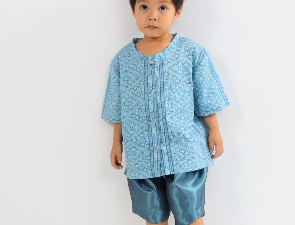 ชุดไทยเด็ก Pattani- Blue