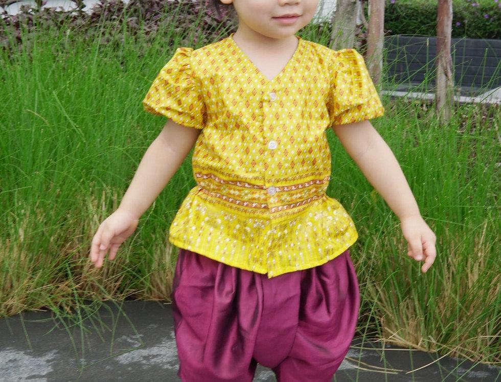 ชุดไทยเด็กหญิง J1 Empress - Yellow