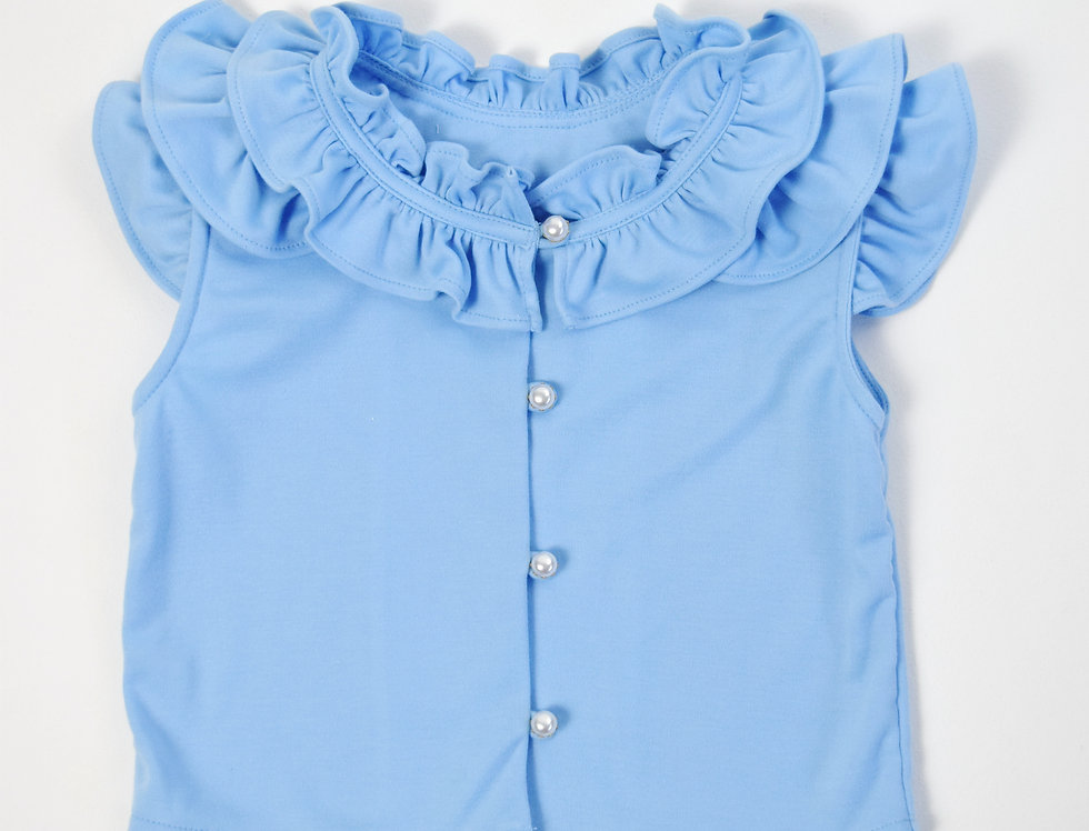 Bai Bua Blouse -Blue