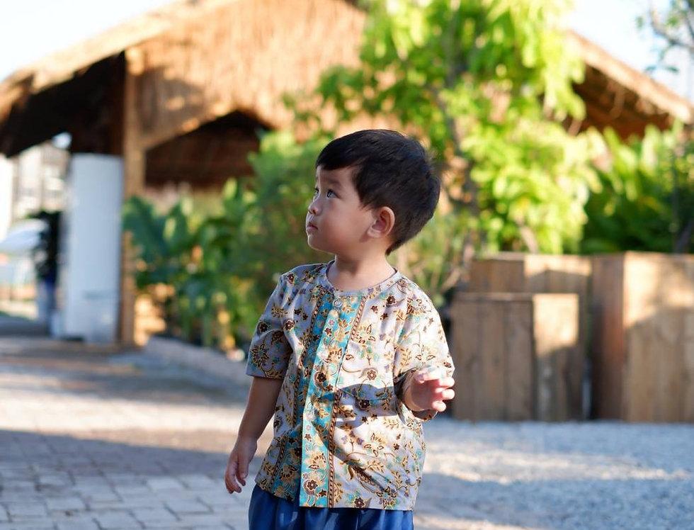 ชุดไทยเด็กชาย SK2107B- Grey
