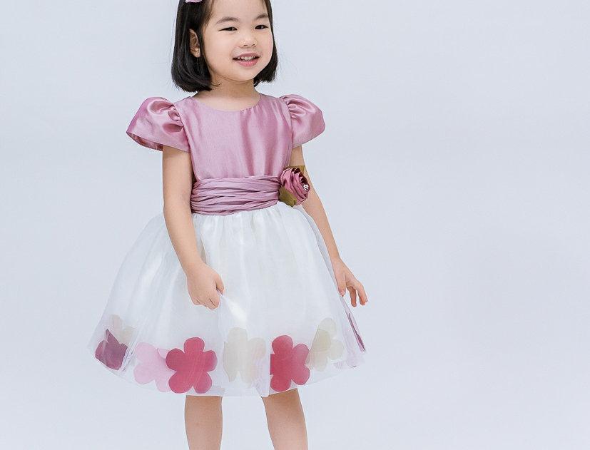 ชุดราตรีเด็ก E2110-pink