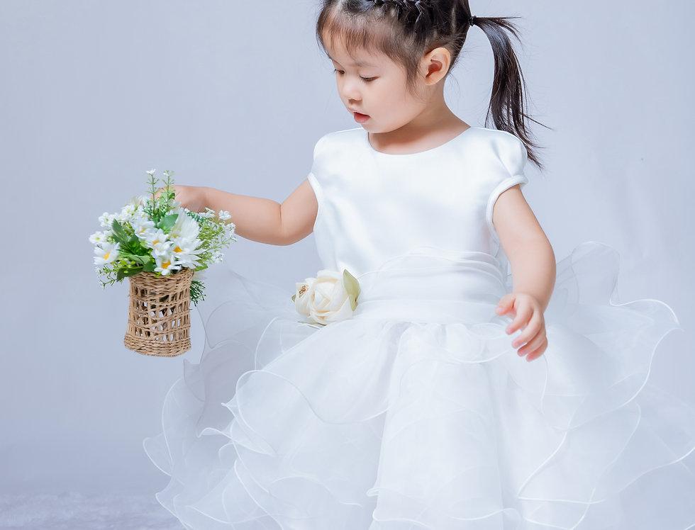 ชุดราตรีเด็ก SS-2045 White