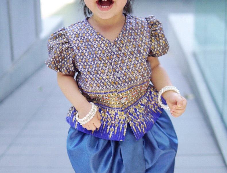 ชุดไทยเด็กหญิง J1 Empress - Blue