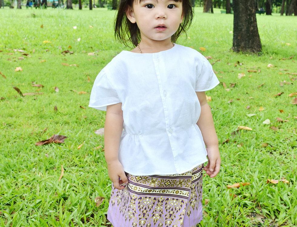 ชุดไทยเด็ก รุ่น B2/SR5-Lilac