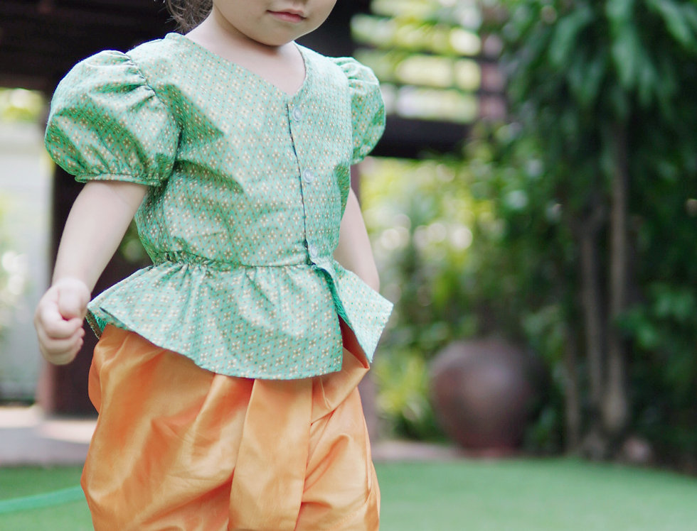ชุดไทยเด็กหญิง J1Green