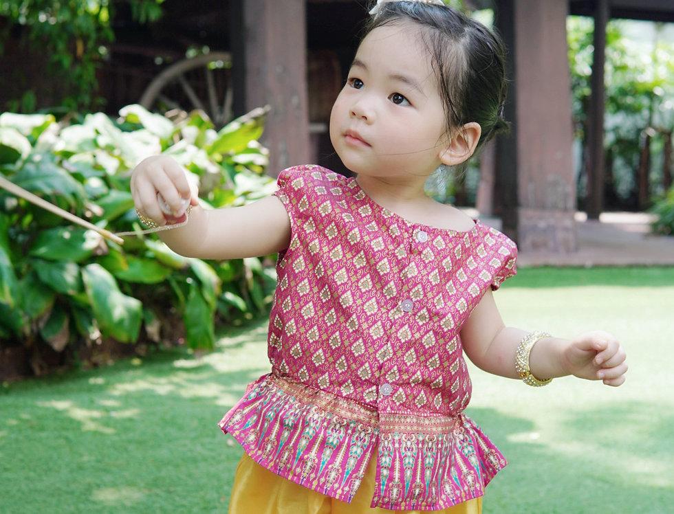 ชุดไทยเด็ก J2 Manee - Red