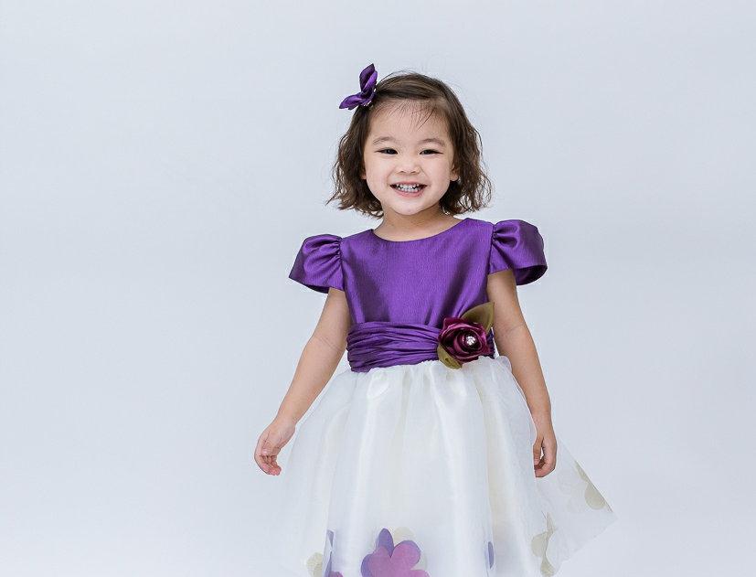 ชุดราตรีเด็ก E2110-purple