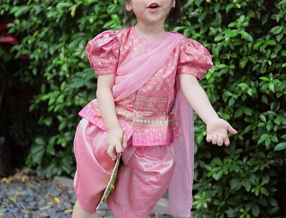 ชุดไทยเด็กหญิง SK2101 - pink