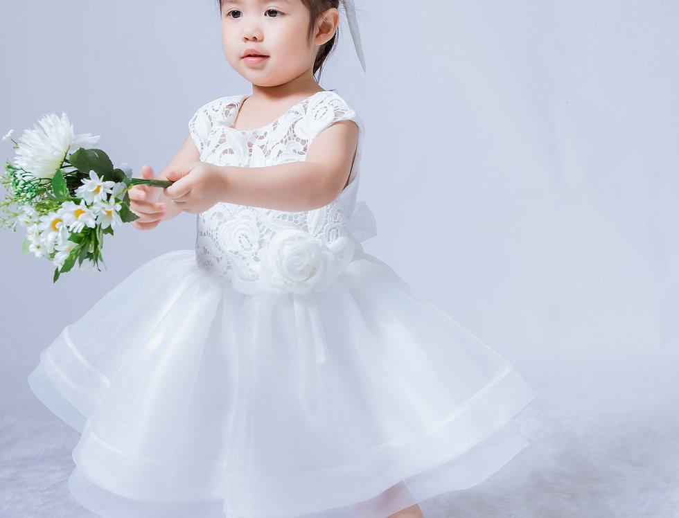 ชุดราตรีเด็ก SS-2042 White