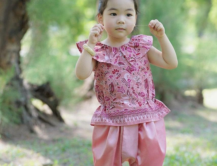 ชุดไทยเด็กหญิง SK2104 - Pink