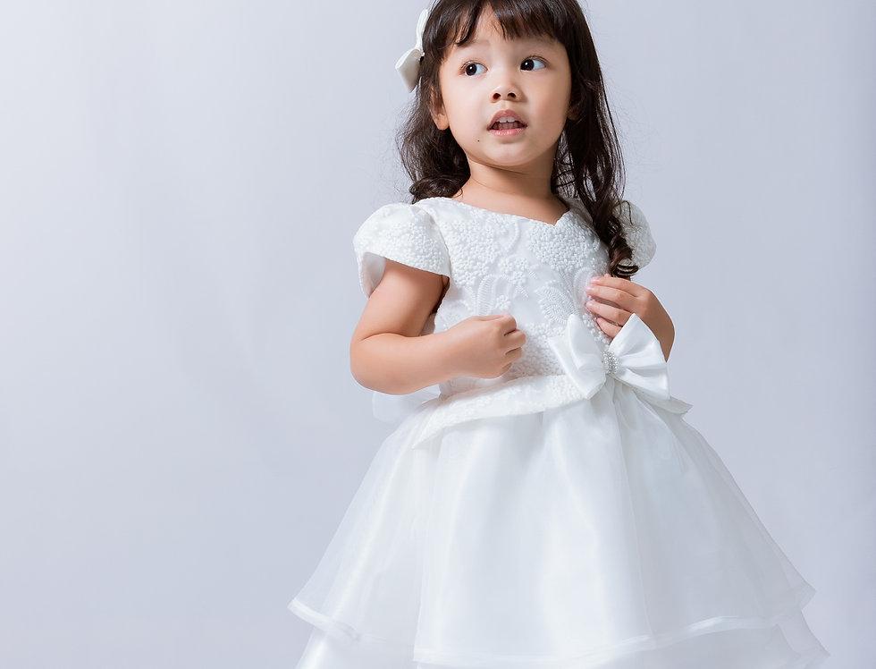 ชุดราตรีเด็ก SS-2046 White