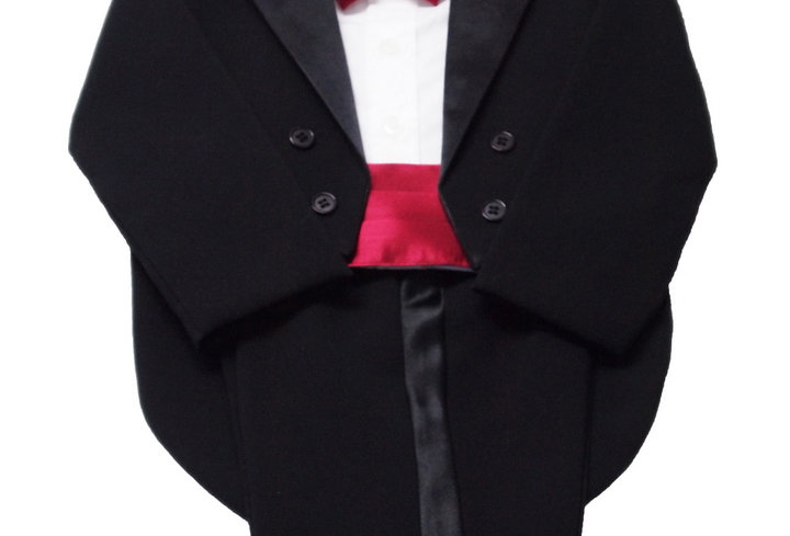 Tuxedo Black- burgandy