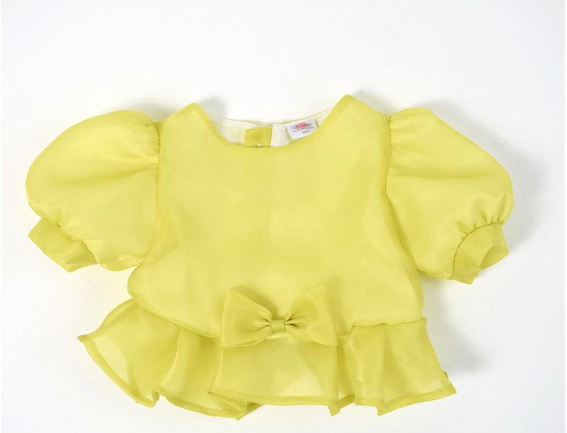 metta blouse - lime green