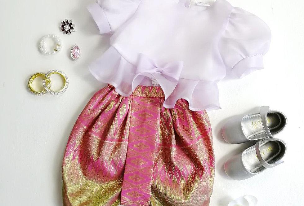 ชุดไทยเด็ก Metta- Lilac/Pink