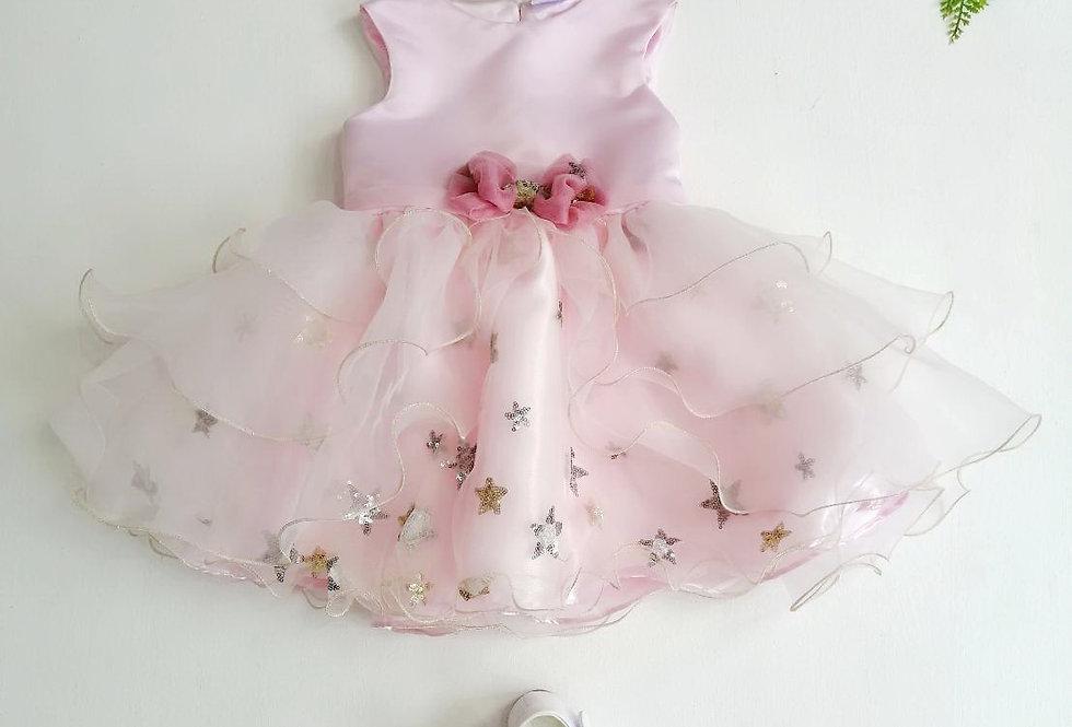 ชุดราตรีเด็ก SS1809-pink