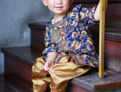 ชุดไทยเด็กชาย SK2105B-Navy