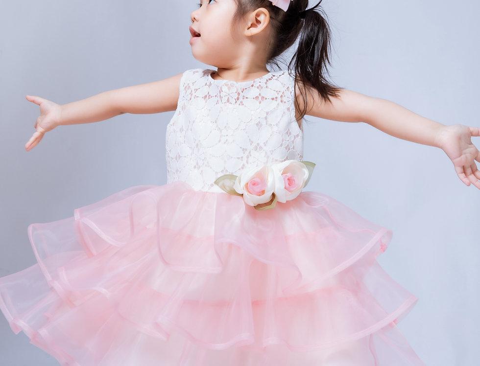 ชุดราตรีเด็ก SS-2043 Pink