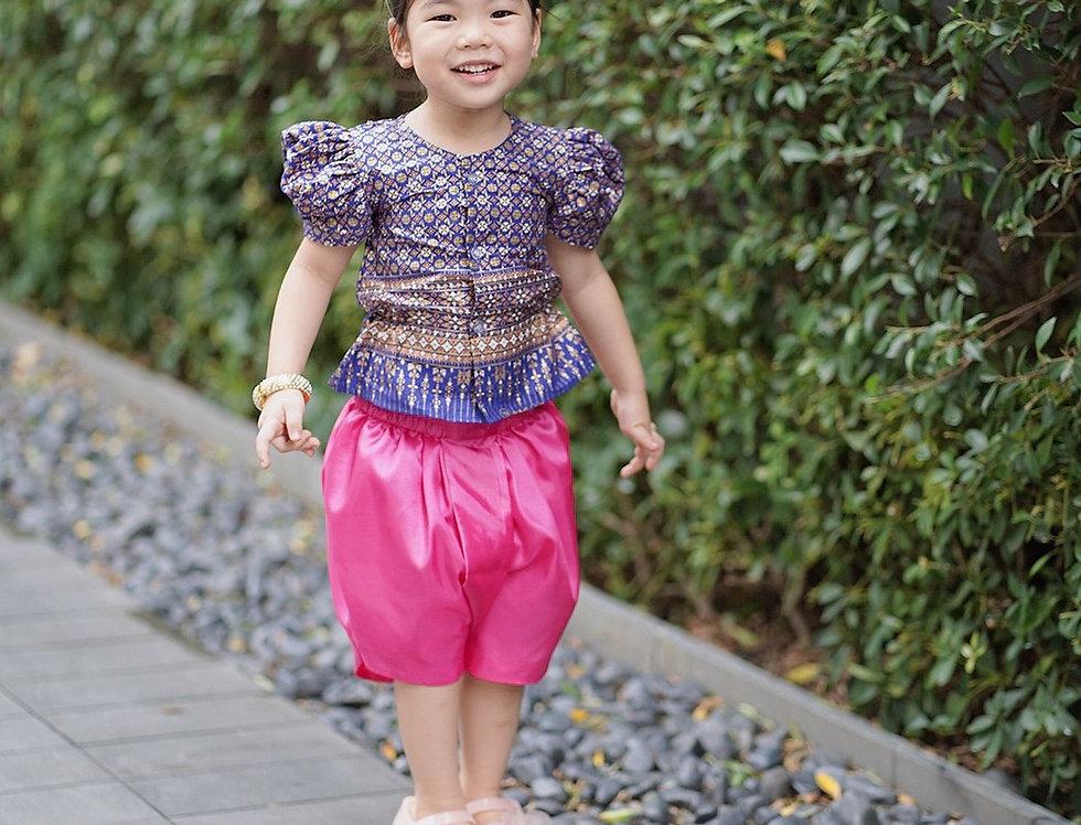 ชุดไทยเด็กหญิง SK2101 - Dark blue