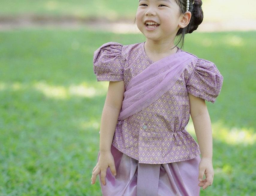 ชุดไทยเด็กหญิง SK2102 - lilac
