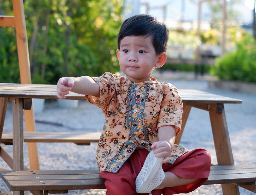 ชุดไทยเด็กชาย SK2107B- Gold