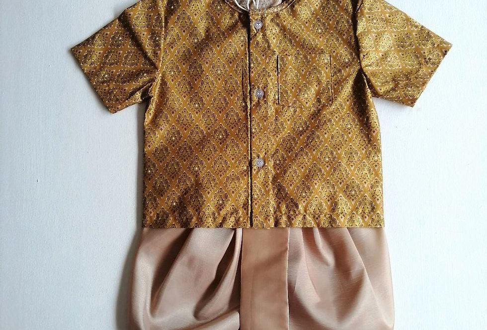 ชุดไทยเด็กชาย SET15-Gold