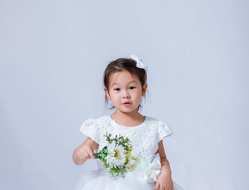 ชุดราตรีเด็ก SS-2041 White