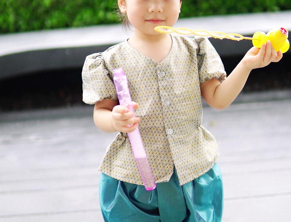 ชุดไทยเด็กหญิง J1 Grey