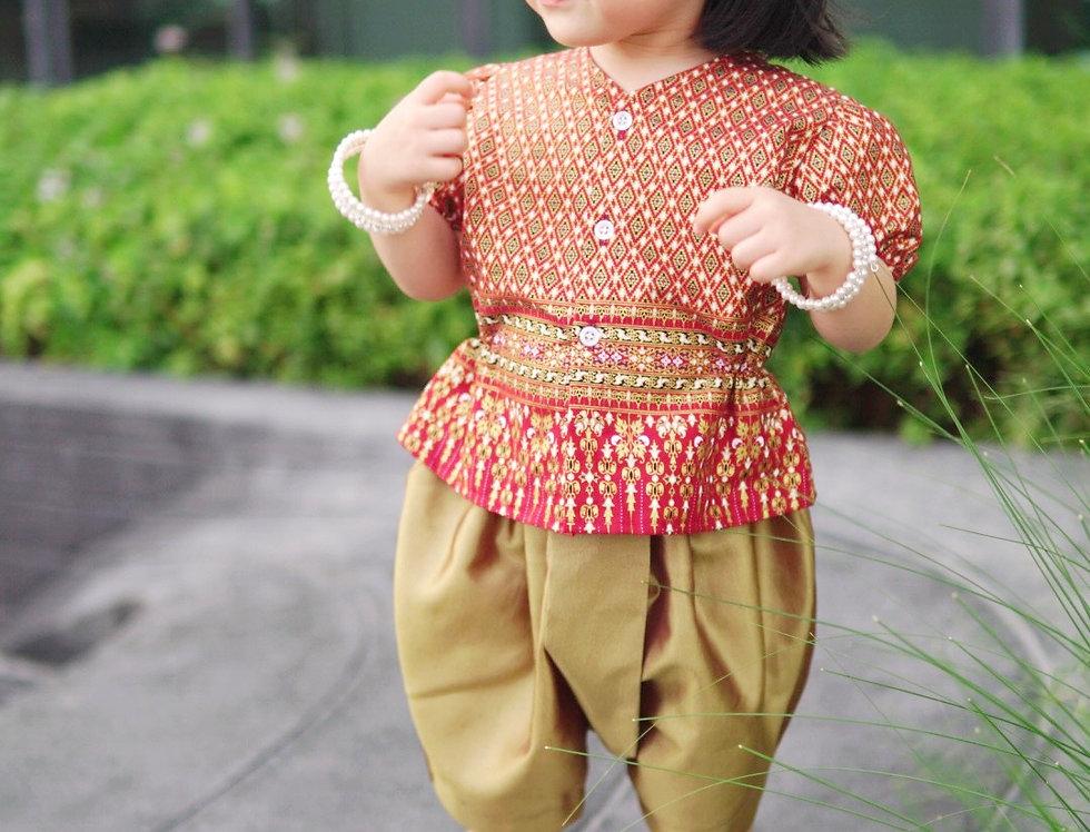 ชุดไทยเด็กหญิง J1 Empress - Red