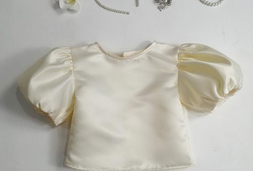 ชุดไทยเด็ก เสื้อรุ่น Tulip- cream