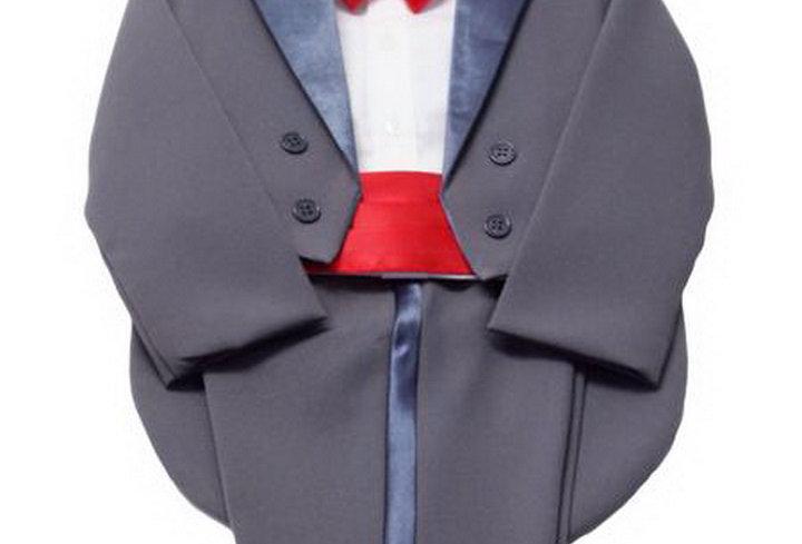 Tuxedo Grey- Red