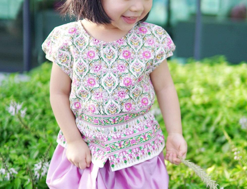 ชุดไทยเด็กหญิง J2 Mali - White