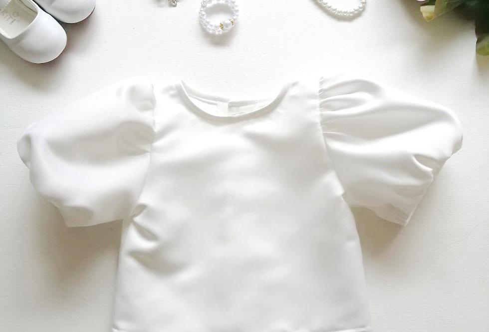 ชุดไทยเด็ก เสื้อรุ่น Tulip -white