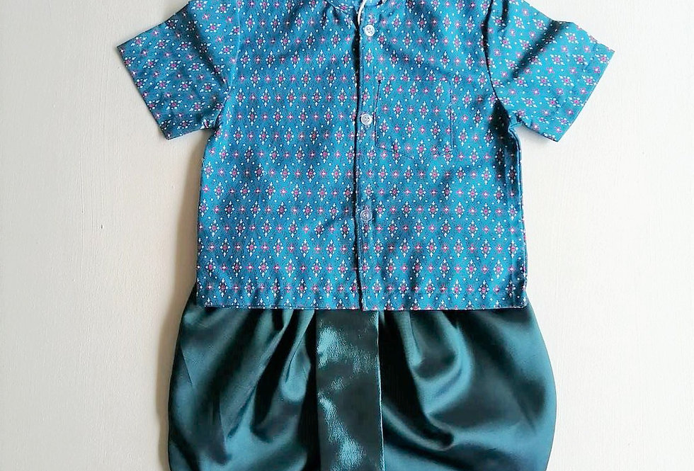 ชุดไทยเด็กชาย SET13-Blue
