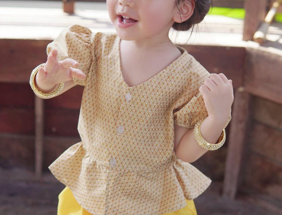 ชุดไทยเด็กหญิง J1 Yellow