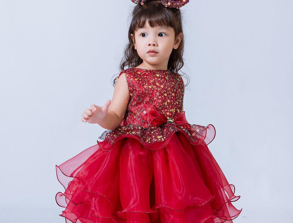 ชุดราตรีเด็ก SS-2044 Red