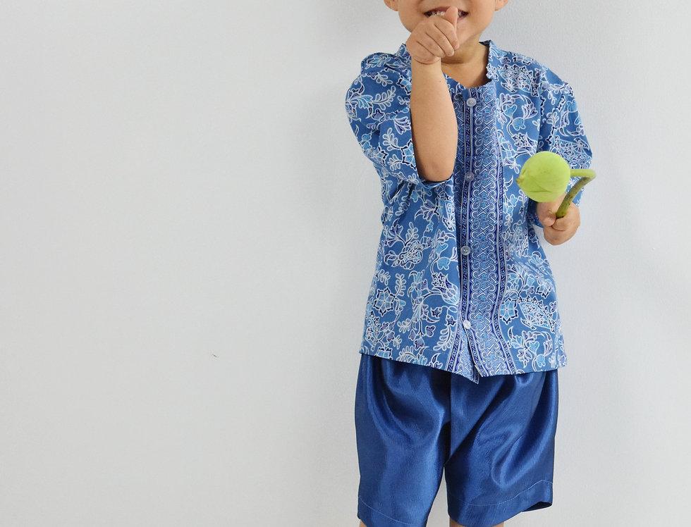 ชุดไทยเด็ก Yala-blue/blue