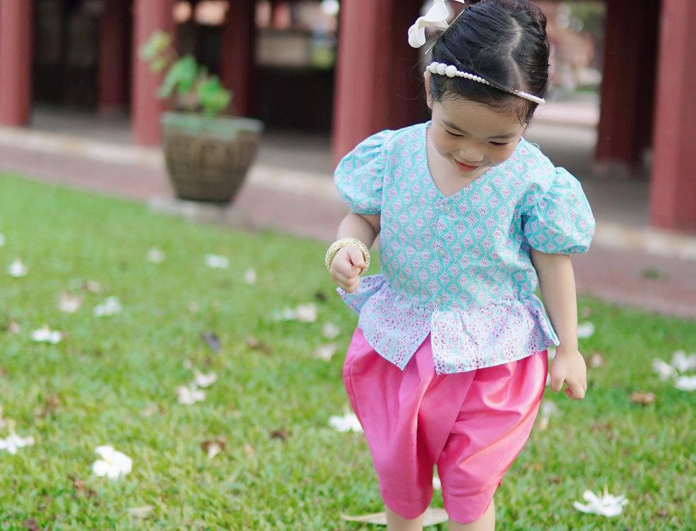 ชุดไทยเด็กหญิง J1- Blue