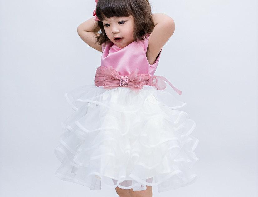ชุดราตรีเด็ก E2105 - pink