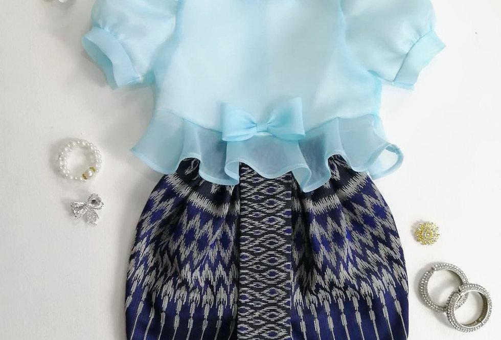 ชุดไทยเด็ก Metta- Blue/navy