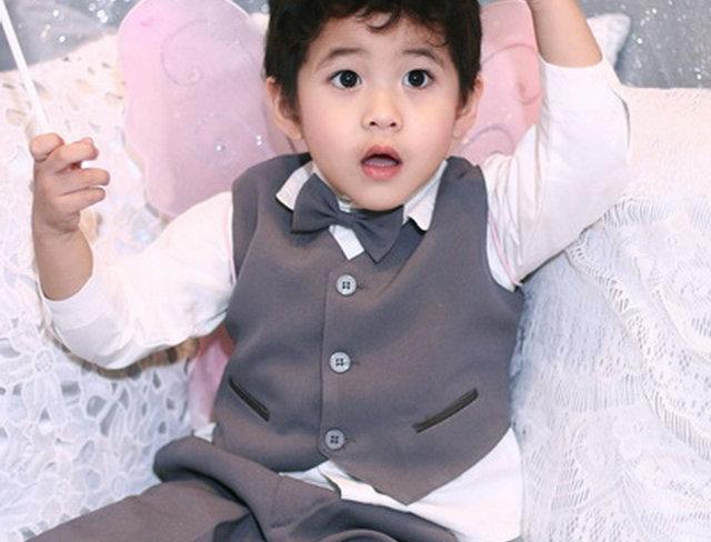 (Vest suit) TH017 Grey