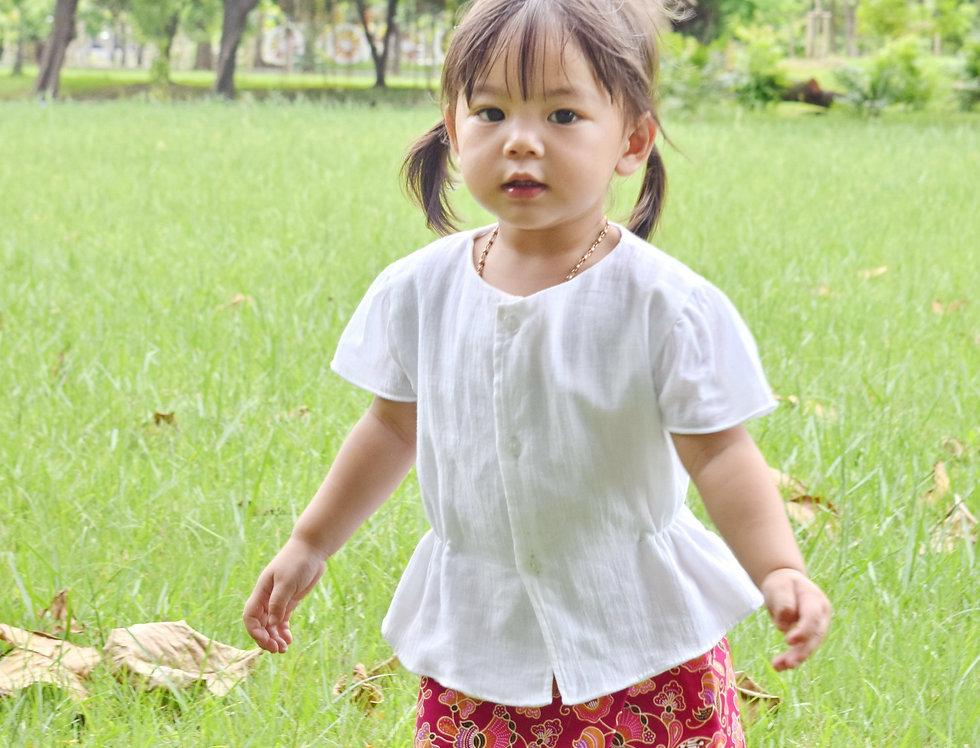 ชุดไทยเด็ก ชุดผ้าถุงเด็ก รุ่น B1/SR9-purple