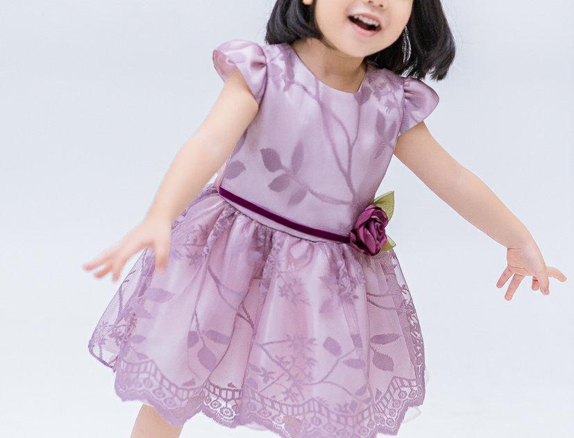 ชุดราตรีเด็ก E2112- purple
