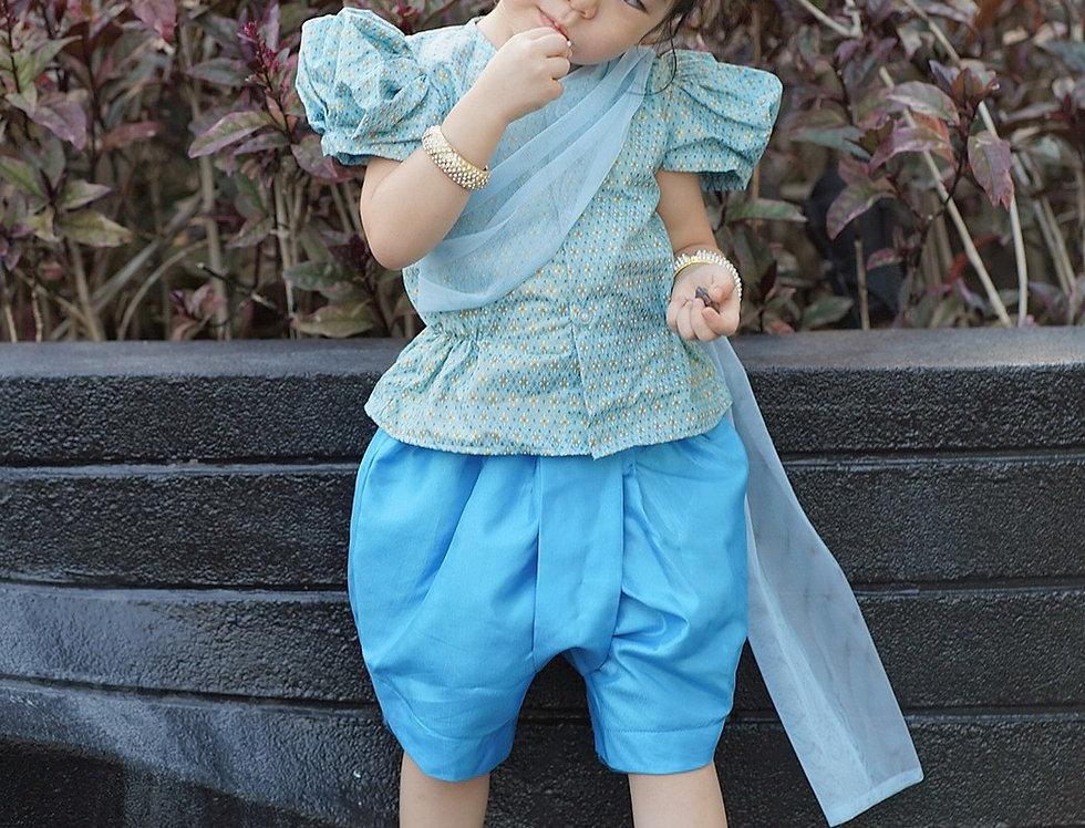 ชุดไทยเด็กหญิง SK2102 - blue
