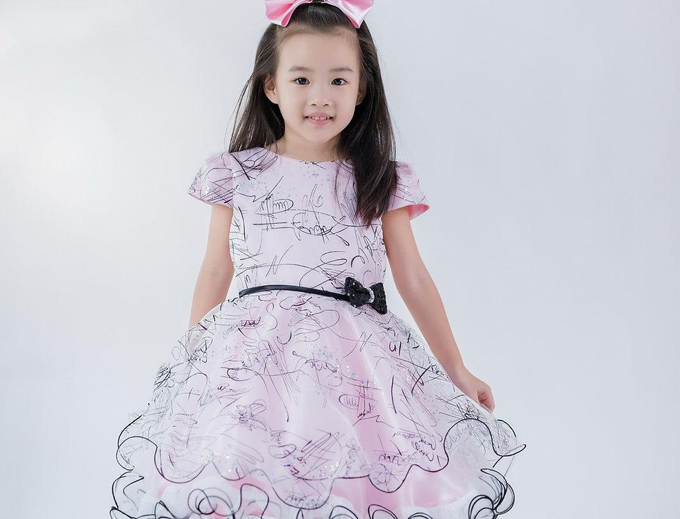 ชุดราตรีเด็ก สีชมพู H12 Pink