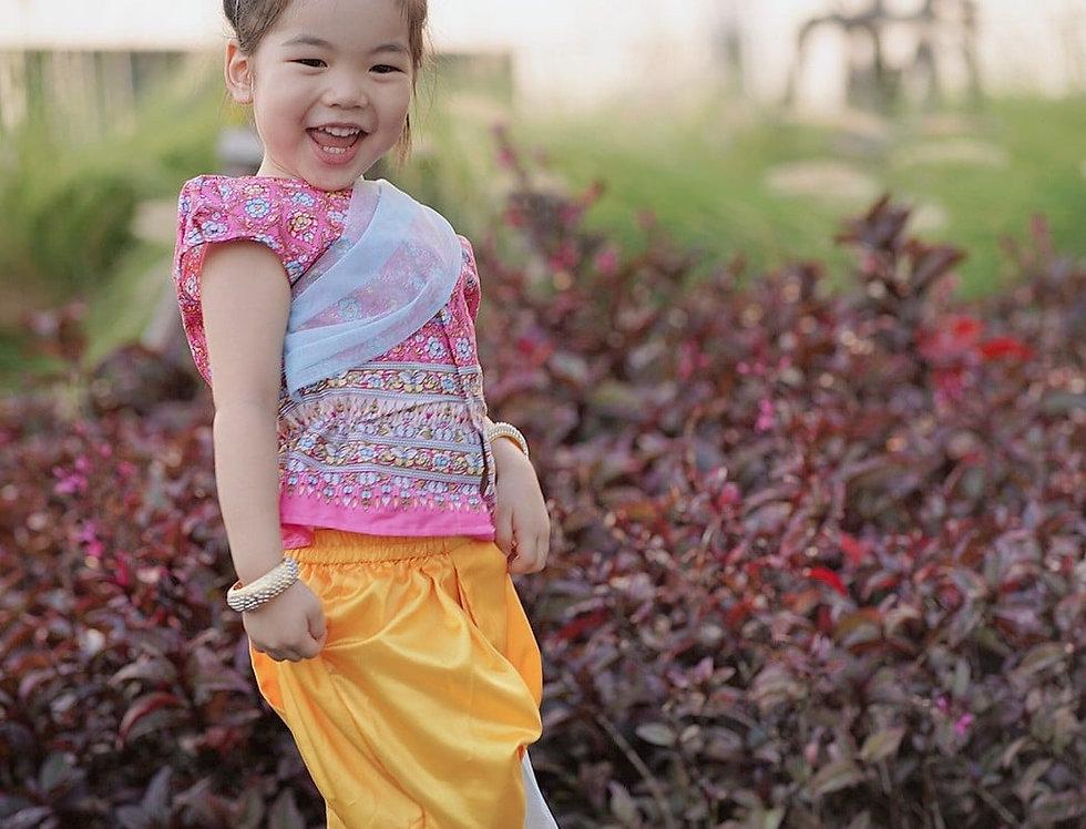 ชุดไทยเด็กหญิง SK2103 - Pink