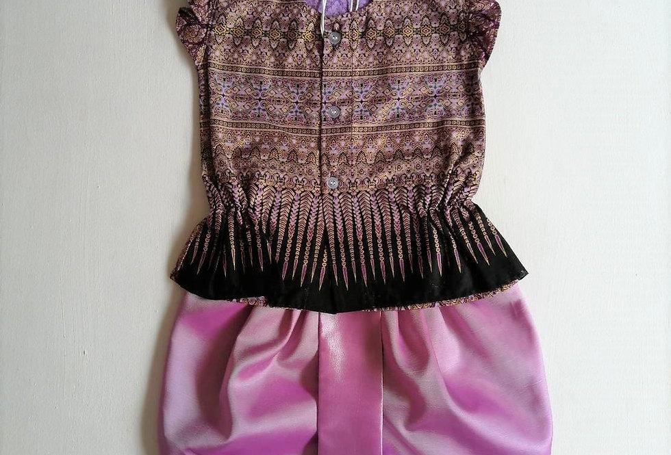 ชุดไทยเด็กหญิง SET18 - Purple