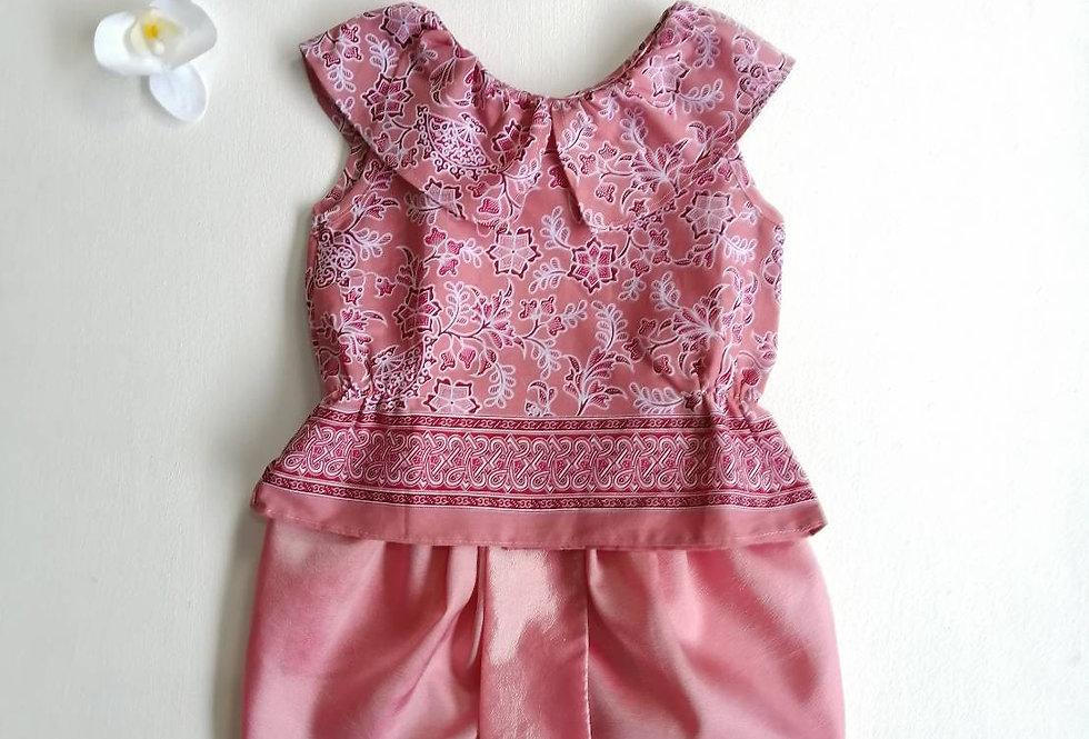 ชุดไทยเด็ก J7- Pink/coral